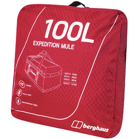 Berghaus Expedition Mule 100 Holdall Reistas, red dahlia/jet black